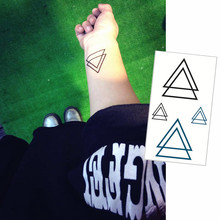 25 Style Mini Temporary Tattoo Body Art, Geometric Triangle Designs, Flash Tattoo Sticker Keep 3-5 Days Waterproof 10.5x6cm