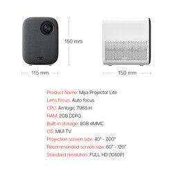 Xiaomi Mijia przenośny mini projektor do montażu na projekcji 1080p 500 ANSI lumenów MIUI TV HDR10 2.4G/5G WiFi 5