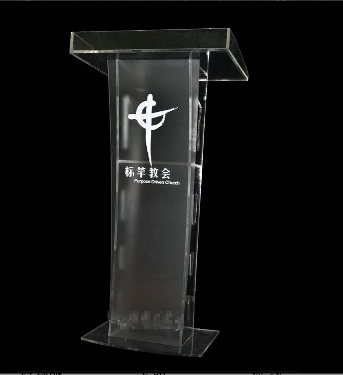 Free Shipping fashionable  Strict application pulpit of the church acrylic technology free shipping organic glass pulpit church acrylic pulpit of the church