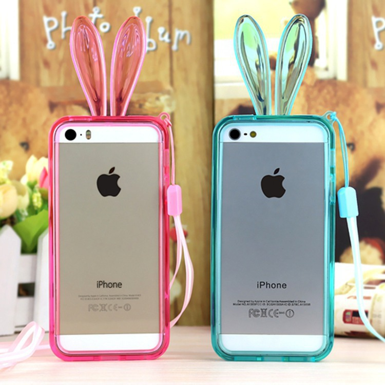 fashion tpu bumper apple iphone4 4s clear transparent cute beauty cartoon protective cell phone frame - March_e-store store