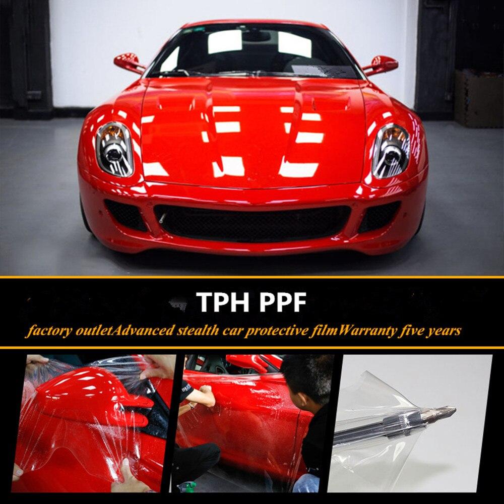 TPH Peau Autocollant De Voiture Pare-chocs Capot Paint Film de protection TPH Vinyle Transparent Transparence Film De Voiture décalcomanies pour voiture PPF En Gros