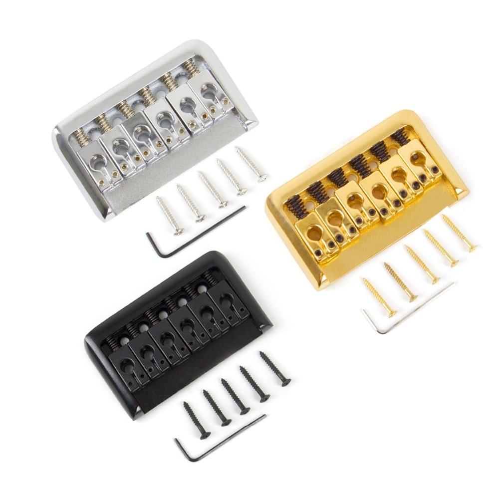 Hardtail Guitar Bridge Body through for 6 String Electric Parts