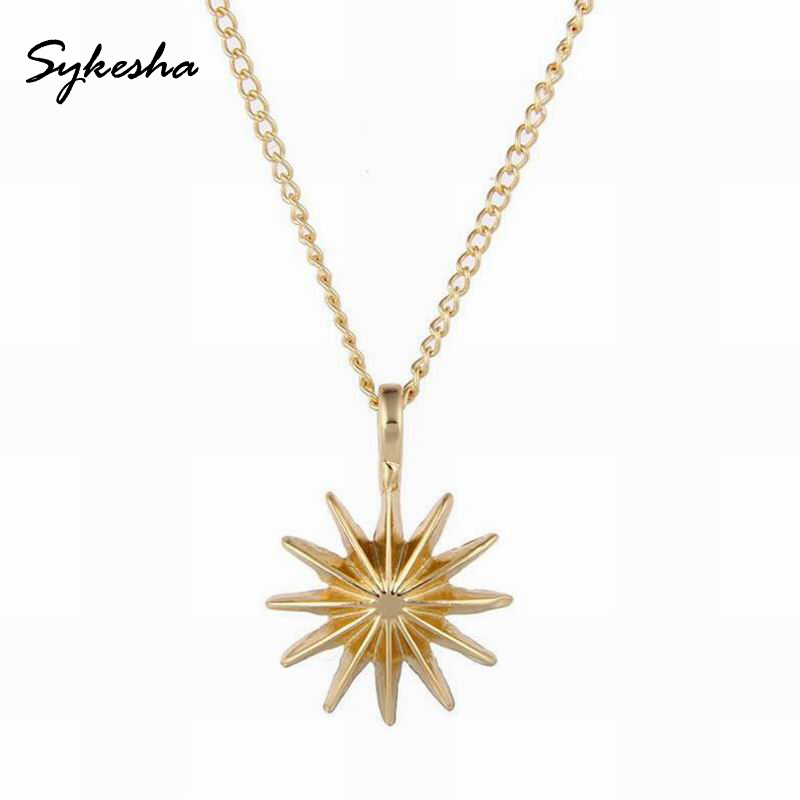 High Quality 2018 Fashion Jewelry Reminders Accomplish Magnificent Things Starburst Charm Necklace Christmas Gift