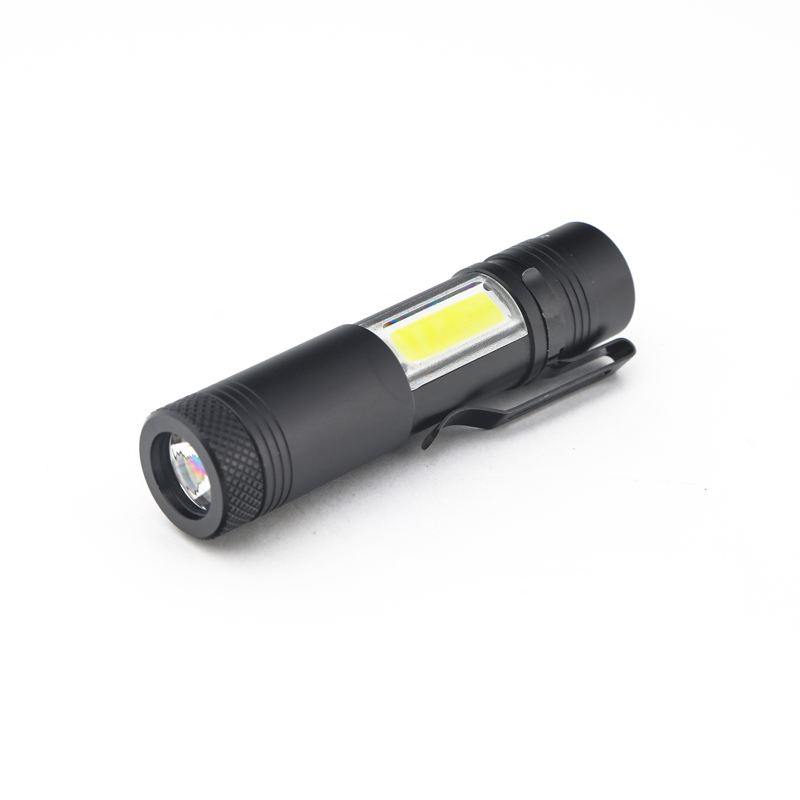 ASNKASNE Powerful LED Flashlight Cree Q5&COB Work Lamp Portable Mini Torch 4 Modes Waterproof Pen Light For 14500 or AA z50 5pcs pen light portable mini led flashlight torch cree q5 flash light hugsby xp 2 500lm hunting lamp by aaa battery