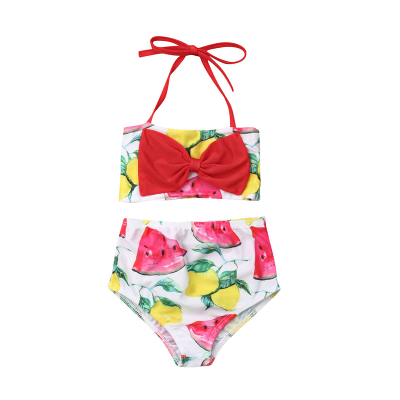kids Baby Girls Watermelon Swimwear Swimsuit Tankini Swimming Bikini Suits 1-6T