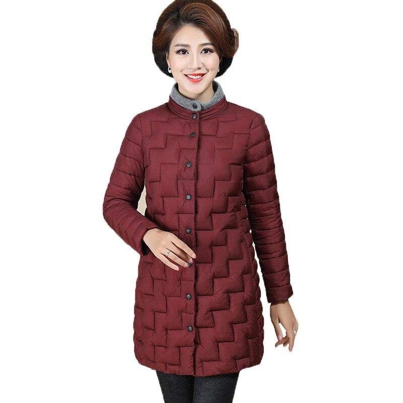 Jujube Coton Bas En La Longue Dans Coréenne 2019 Hiver Léger Vers Chaud Nouvelle brown Femmes Rembourré Le Veste Red Manteau black nOSwOTx6q
