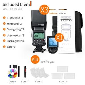 Image 2 - 3x Godox TT600 Dahili Almak kamera flaşı Speedlite ile Xpro Verici Canon Nikon Sony için Fuji Olympus Pentax Kamera