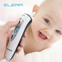 ELERA New Baby Thermometer Digital Infrared  IR LCD Baby Forehead and Ear Non-Contact Adult Body Fever Measurement Termometro