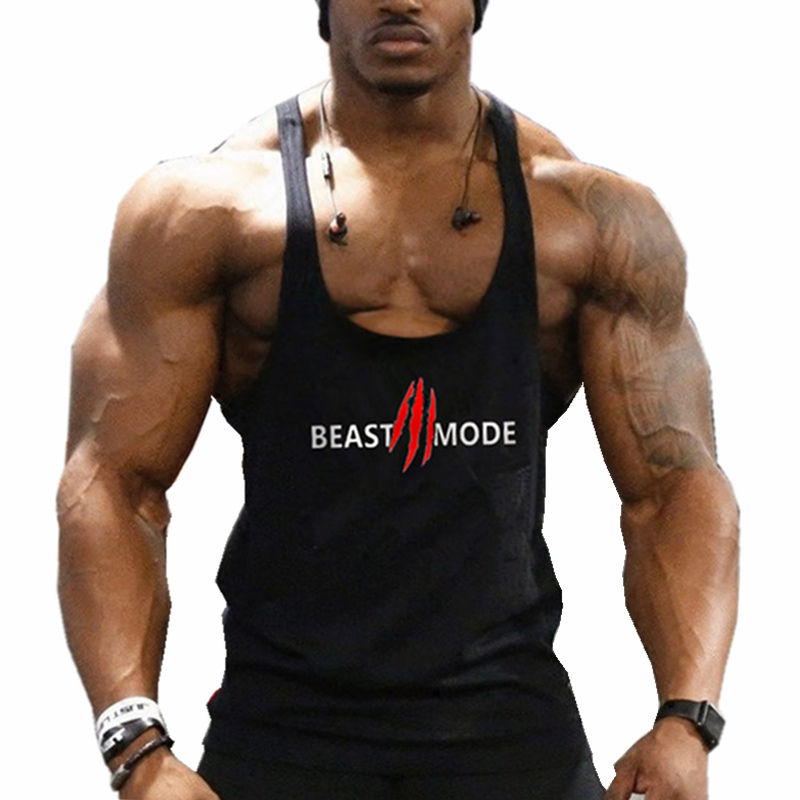 2018New Arrival Gyms Stringer   Tank     Top   Men Bodybuilding and Fitness Men's Singlets   Tank     Top   Shirts gyms Clothes Sportswear Vest