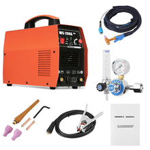 WS-200A TIG Welder Welding Machine Argon TIG Welder Argon Gauge Digital Welding Gun Head Welding Tools Set AC 220V 220v 3 in1 multi functionplasma cutter mma tig w elder set display welding machine for welding