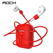 ROCK Silicone Case For Apple Airpods Cover Earphone Strap Wireless Bluetooth Headphone Earphone Protector Case for Air Pods