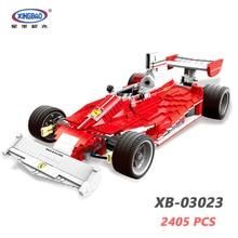 XINGBAO 03023 Genuine TECHNIC Car Series 2405PCS The Red Power Racing Car Set Building Blocks MOC Bricks Assembly Car Model Kit