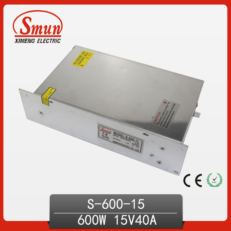 Single Output 600W 15V 40A Switched Mode Power Supply With CE RoHS ApprovedSingle Output 600W 15V 40A Switched Mode Power Supply With CE RoHS Approved
