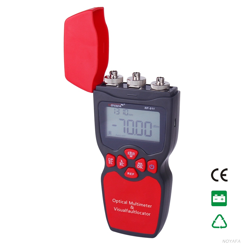 NF-911 3-in-1 Optical Multimeter Optical Fiber Tester Optical Power Meter Visual Fault Locator Light source(not include battery) fiber optic tool kits 5 in 1 ftth optical fiber cleaver fc 6s 10mw visual fault locator fiber power meter
