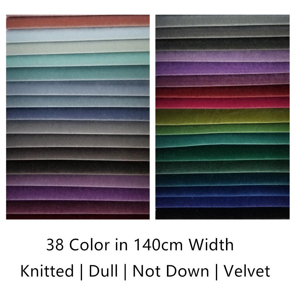 38 cores sólido liso tintura pilha maçante não para baixo girado pano de veludo sofá cadeira drapy estofamento tecido 140cm largura vender por metro