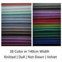 38 couleurs solide plaine teinture terne Pile pas vers le bas filé velours tissu canapé chaise draperie tissu d'ameublement 140cm largeur vendre au mètre