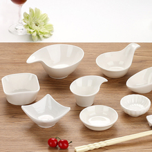 Chinese Creative Plastic double Sauce Dish Decorative Food Plate ginger, garlic, butter Trays Holder Creative Gift with logo