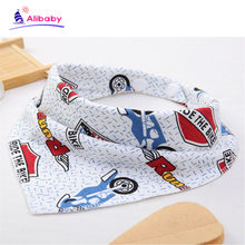 Baby bibs muslin baby cotton bib burp cloth triangle waterproof bibs suck pad saliva towel babero algodon printed bandana(China)