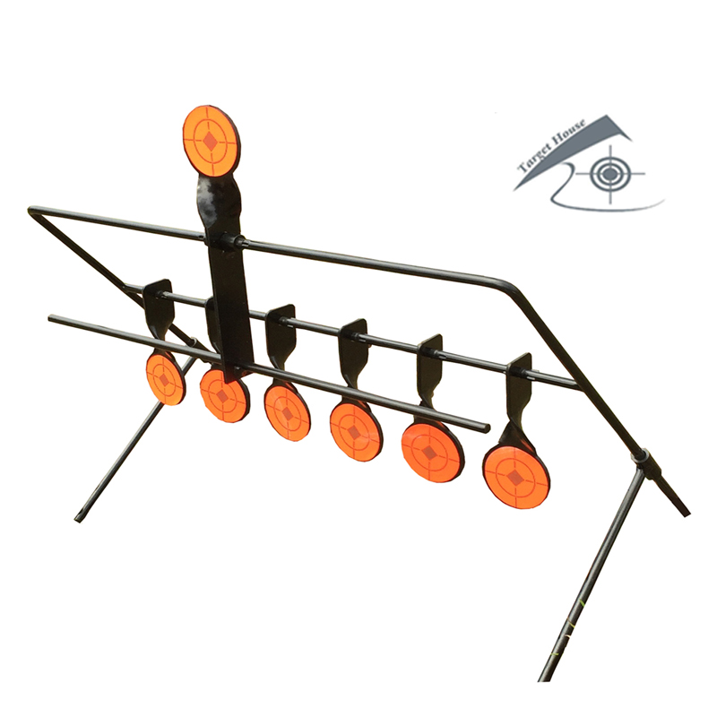 7-Plate Reset Target / For Airgun Airsoft Paintball Archery Shooting/Improve Hunting Shooting Tactical Skill/Outdoor&Indoor