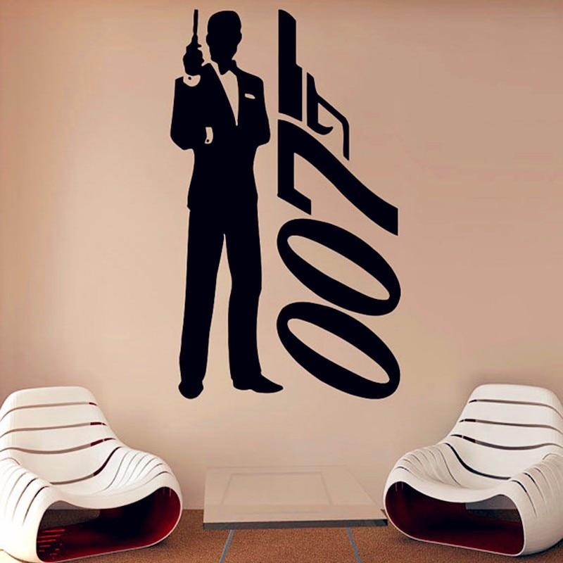 James Bond Daniel Craig 007 Movie Film Silhouette Wall Art