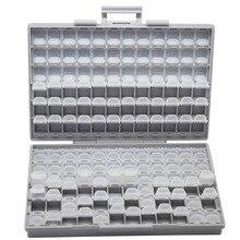 AideTek SMD резистор конденсатор бусины для хранения белая коробка Органайзер Пластиковый Ящик для инструментов для хранения электроники Чехлы и органайзеры BOXALL