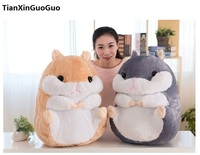 stuffed fillings toy Large 50cm hamster plush toy lovely cartoon hamster soft doll throw pillow birthday gift s0661