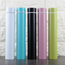 цена на 280ML Stainless Steel Thermos Bottle Thermo Cup Candy Color High Quality Vacuum Bottle Lady Cup Free Shipping