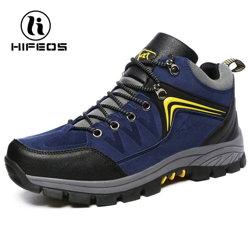 Hifeos Plus Velvet Shoes Suede Leather Outdoor Hiking