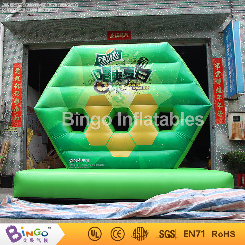 funny inflatable shooting game 3.8*1.9*3.3M high inflatable funny games-BG-G0348 toy funny fishing game family child interactive fun desktop toy