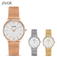 zivok Fashion Women Bracelet Watch Relogio Feminino Rose Gold Lovers Quartz Wrist Watches Women Clock Girls Hour Time Saat