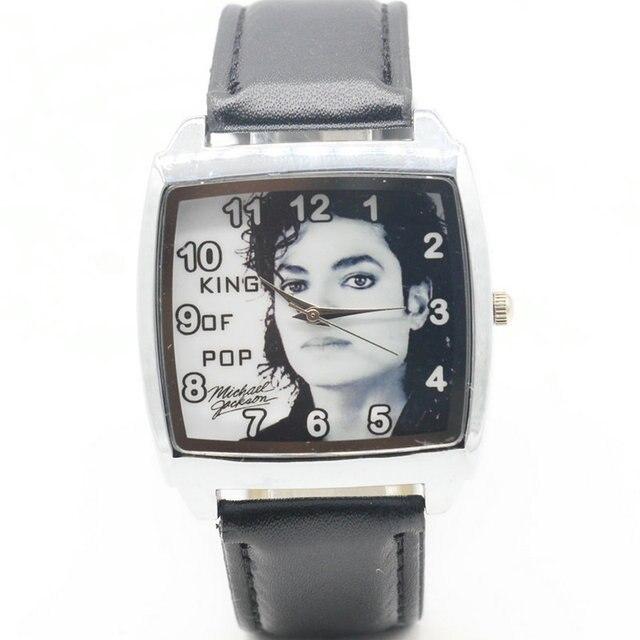 Fashion KIDS Leather Michael Jackson Dance Band Casual Analog Quartz Wrist Watch