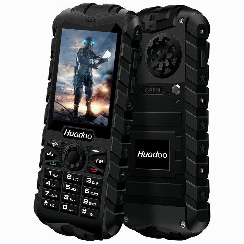 HUADOO H3 IP68 Waterproof Dustproof Shockproof FM Flashlight Outdoor Rugged Senior Old Man Military 2 4