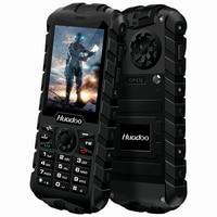 HUADOO H3 IP68 Waterproof Dustproof Shockproof FM Flashlight Outdoor Rugged Senior Old Man Military 2.4 inch Cell Phone