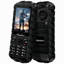 HUADOO H3 IP68 Étanche À La Poussière Antichoc FM lampe de Poche En Plein Air Robuste Anciens Hauts Homme Militaire 2.4 pouce Cellulaire Téléphone