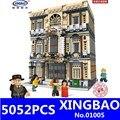 XingBao 01005 5052Pcs Echte Creatieve MOC Stad Serie De Maritieme Museum Set Bouwstenen Bakstenen Kinderen Speelgoed Model Geschenken
