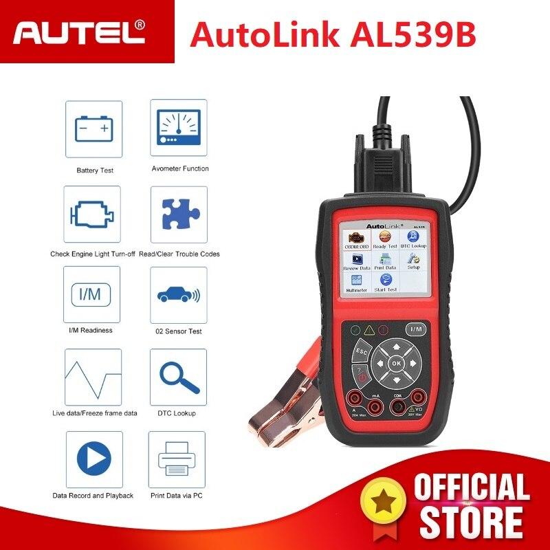 Autel Autolink AL539B OBD2 scanner automotivo Ferramenta de Teste Elétrico Para odb2 Leitor de Código de carro ferramenta de diagnóstico OBD EOBD 2 PK al539