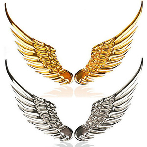 1 Pair Fashion 3D Wings Car Sticker For Chrysler Sebring Voyager Crossfire PT Cruiser 300C Aspen Pacifica Town Country(China)