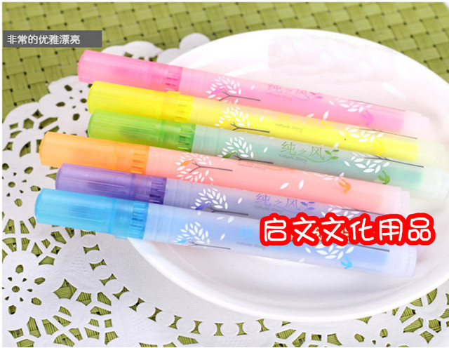 Stationery pure multicolour neon pen marker pen 6301 pen