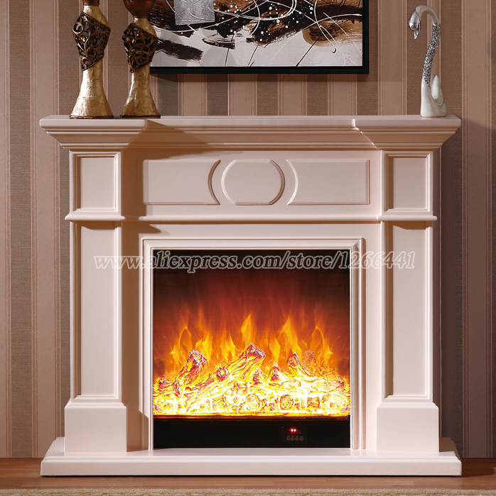 decorative heating fireplace set w120cm wooden mantel plus. Black Bedroom Furniture Sets. Home Design Ideas