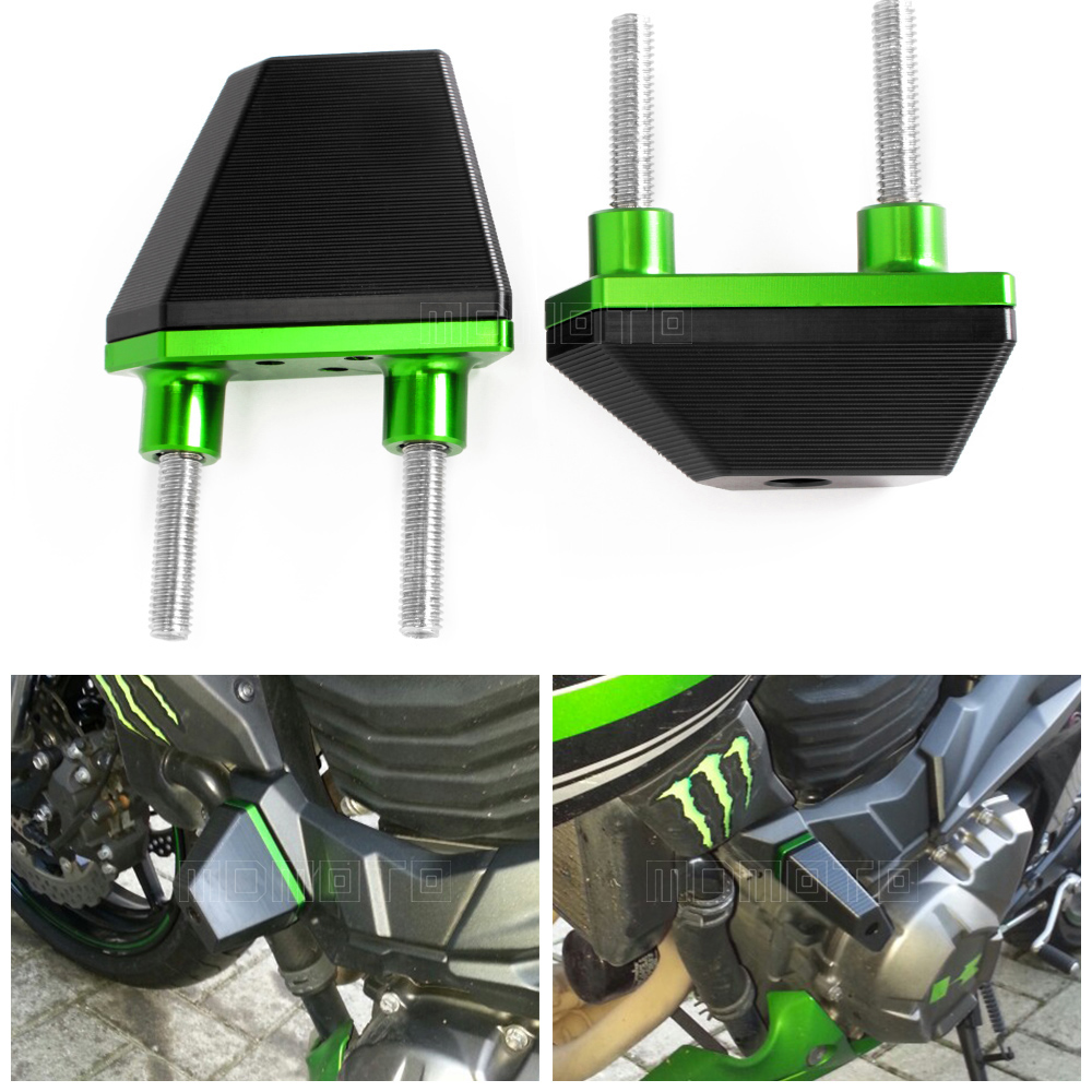 CNC Crash Pads Frame Sliders Protector For Kawasaki Z800 2013 2014 2015 2016 Z750 Z1000 Motorcycle Accessories Parts motorcycle accessories cnc engine cover frame sliders crash protector for kawasaki z1000sx z1000 sx 2014 2013 2012 2011