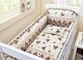 Promoción! 6 unids cuna parachoques, relleno de la cubierta para la cuna parachoques + cama cabecera de la cama alrededor, incluyen ( bumpers + hojas + almohada cubre )
