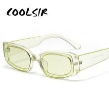 COOLSIR New Fashion Vintage Sunglasses Women Brand Designer Retro Sunglass Rectangle Sun Glasses Female UV400 Lens Eyewears