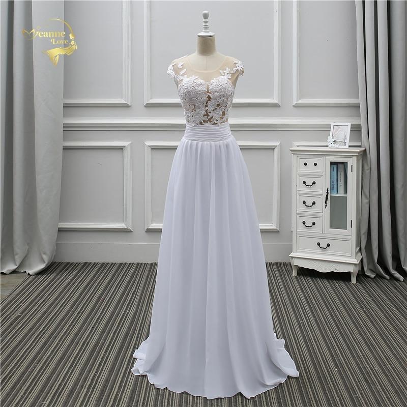Jeanne Love Sexy Lace White Beach Wedding Dresses 2018 Newest Perspective Robe De Mariage JLOV75982 Vestido De Noiva Trouwjurk 2