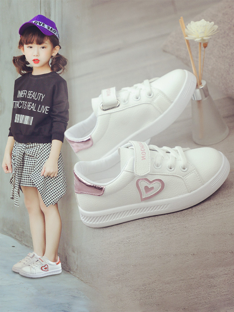 Girl Shoes White Shoes 2019 New Children Shoes Spring and Autumn Leisure Shoes White Spring Shoes Childrens ShoesGirl Shoes White Shoes 2019 New Children Shoes Spring and Autumn Leisure Shoes White Spring Shoes Childrens Shoes