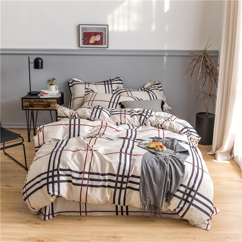 Luxury Egypt Cotton Classical Stripe Lattice Bedding Set Silky Soft Duvet Cover Sets Bed Sheet Pillowcases Queen King size 4PcsLuxury Egypt Cotton Classical Stripe Lattice Bedding Set Silky Soft Duvet Cover Sets Bed Sheet Pillowcases Queen King size 4Pcs