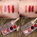 4 Colors Art Studio Tint Lip Gloss Shimmer Red Purple Lipstick Palette Wine Red Sexy 3 Choice