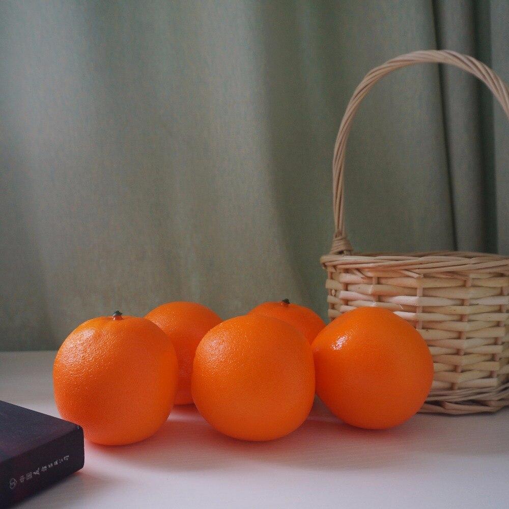 MOOCHUNG Topkwaliteit Kunstmatige Sinaasappels Tafel Decoratieve Fruit Kerst Party Decoraties Fotografie Props Simulatie Vruchten