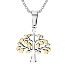Christmas Necklace Silver & Gold Gift