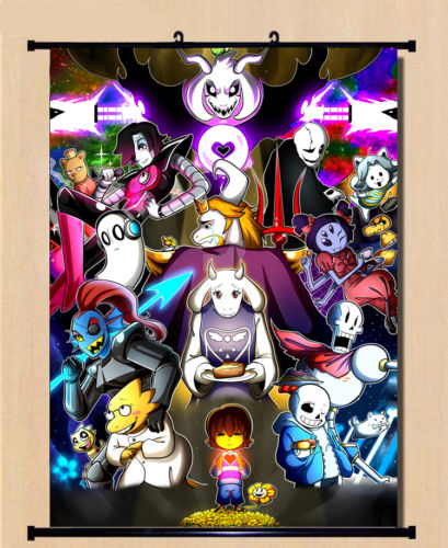 Anime Poster Game Undertale Sans Papyrus Wall Scroll Mural