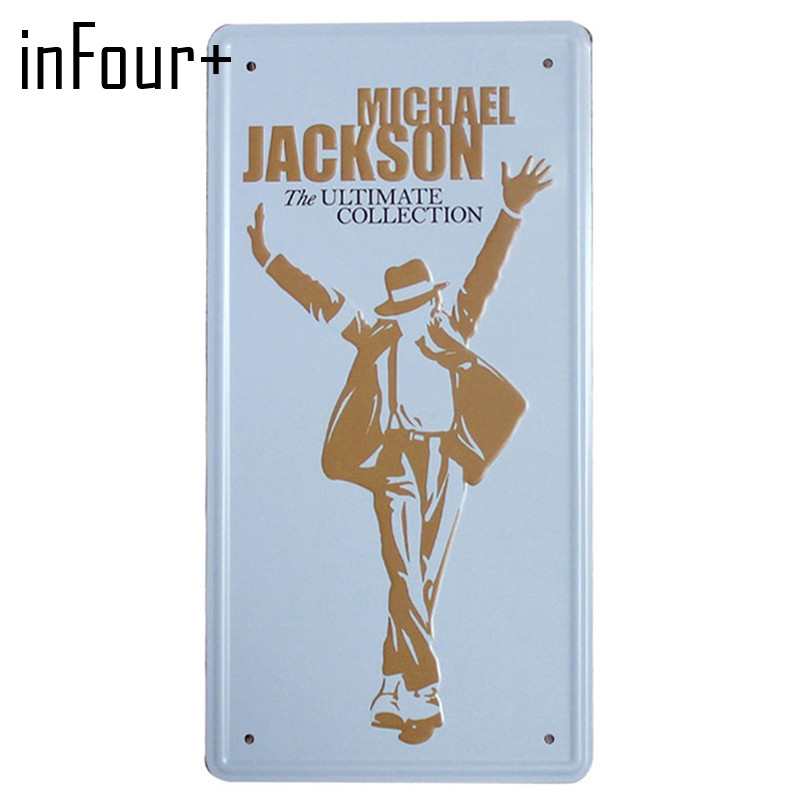 [inFour+] Michael Jackson Plate Metal Plate Car Number Tin Sign Bar Pub Cafe Home Decor Metal Sign Garage Painting Plaques Sign